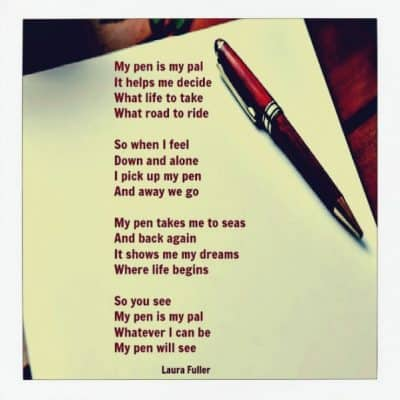 find your gift poem white paper and pen