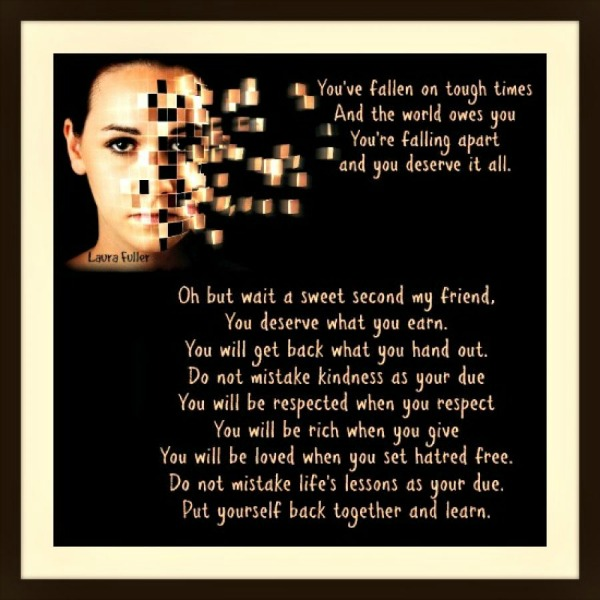 poem with girl on front with shattered face
