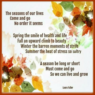 poem on fall background the seasons of life