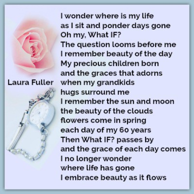 Where has time gone poem by laura pink rose and a watch