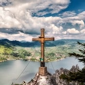 cross on the hill sky back drop