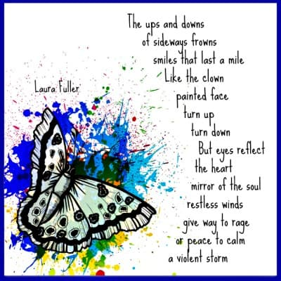 abstract butterfly with poem about choices