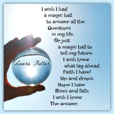 poem by laura, crystal ball