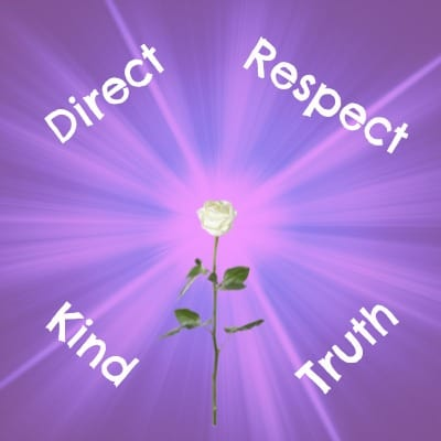 purple background with white rose