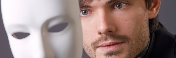 relationship problems man with white mask