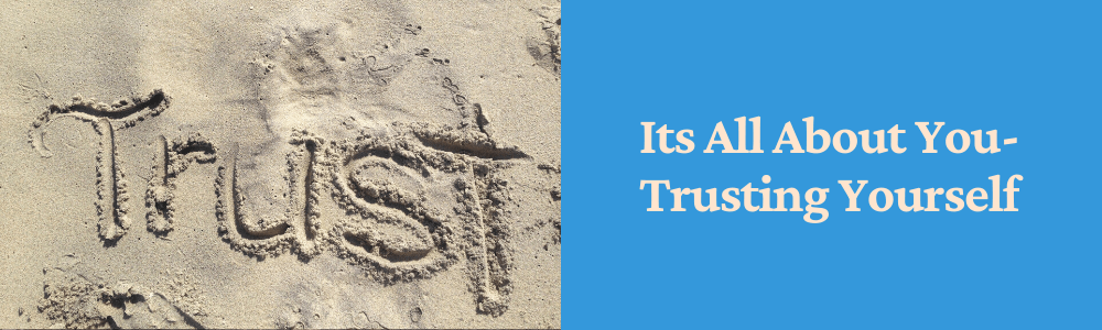 word trust in the sand