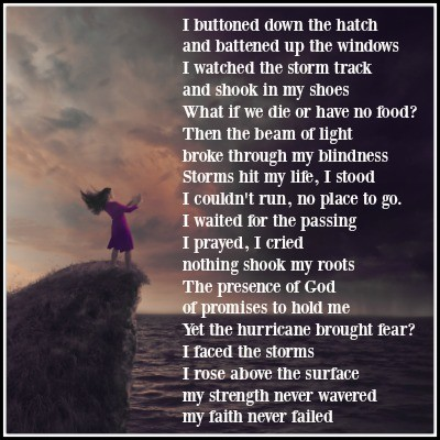 poem by Laura, The storms are coming