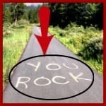 you rock written on the highway