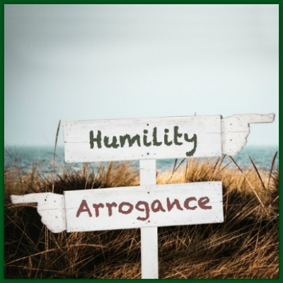 street sign humility arrogance