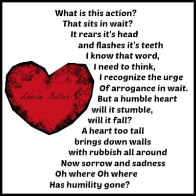 Poem by Laura arrogance or humility
