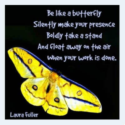 butterfly yellow quote