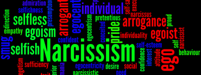 narcissism and words to decribe it