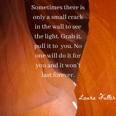 quote light in the crack