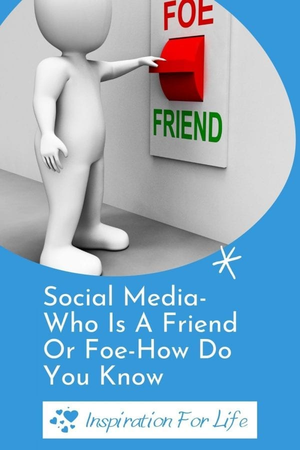 social media freind or foe pin
