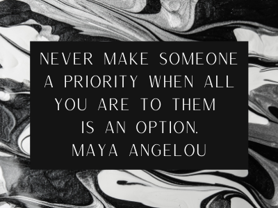 quote on never make someone an option