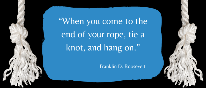 end of the rope tie a know