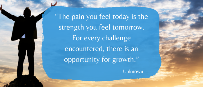 pain gives strength