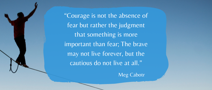 Inspirational Quotes To Give You Strength courage stronger than fear