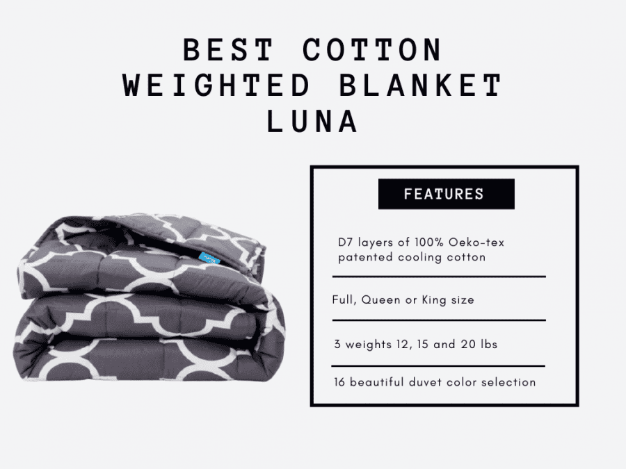 luna features2 weighted blankets