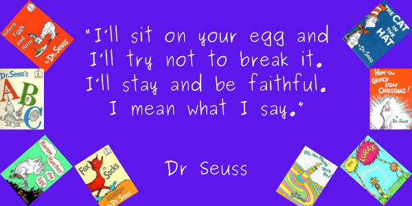 Dr. Seuss Quotes From His Books For Kids, For You, Life Lesson i sit on an egg