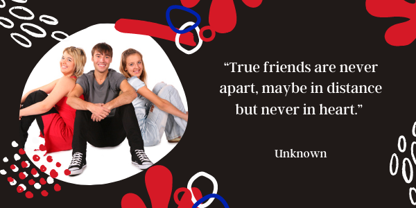 Long Distance Friendship Quotes Never Far, Never Lost never apart