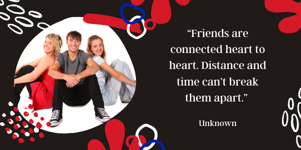 Long Distance Friendship Quotes Never Far, Never Lost connected