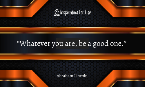 you are good at