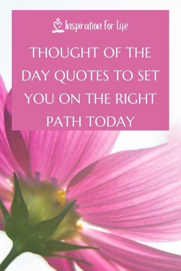 Thought Of The Day Quotes To Set Your Day On The Right Path pin