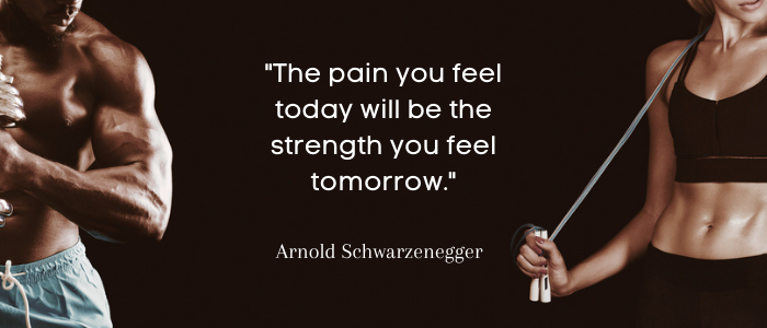 Gym Quotes pain you feel