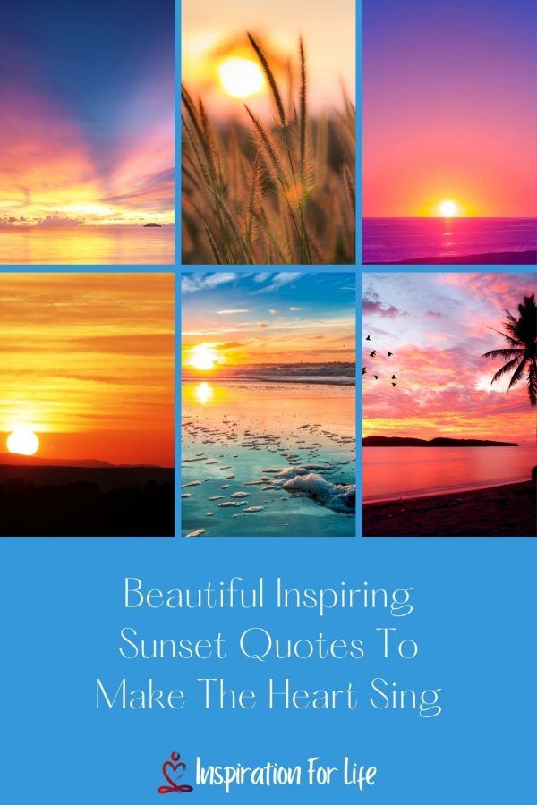 sunset quotes pin