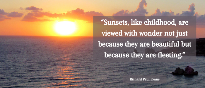 sunset quotes childhood