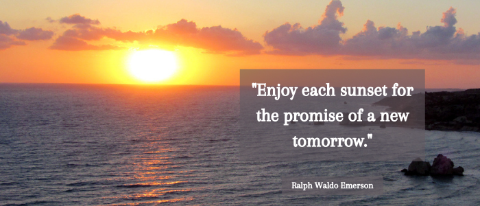 sunset quotes promise