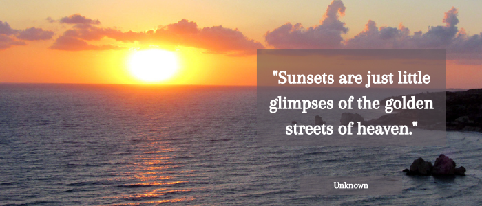 sunset quotes golden